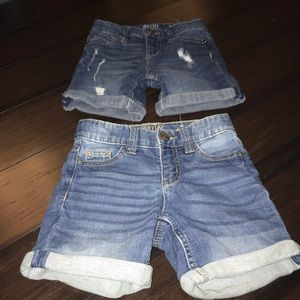 2 Girls Denim Shorts by Justice